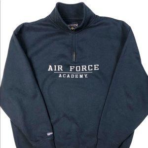 Jansport Sz L Men's Air Force Top Blue Sweater